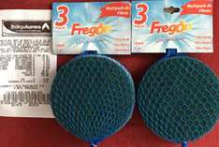 Bodega Aurrerá Insurgentes Sur CDMX: pack de 3 fibras marca Fregon a $5.02