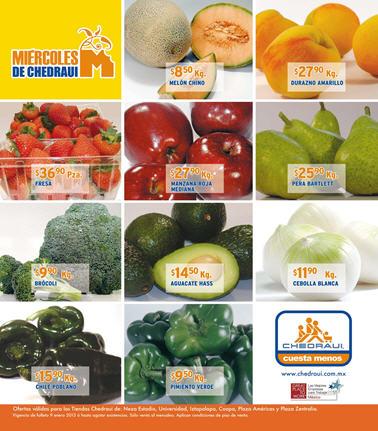 Miércoles de frutas y verduras en Chedraui enero 9: tomate $6.50, papaya $7.90 y +