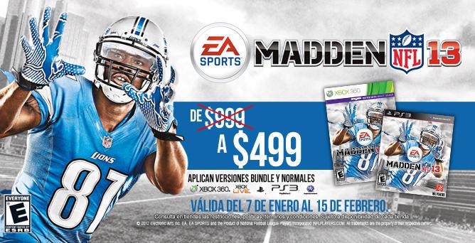 Videojuego Madden NFL 13 a $499