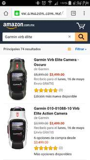 Amazon México: Garmin virb élite Black a $3,499