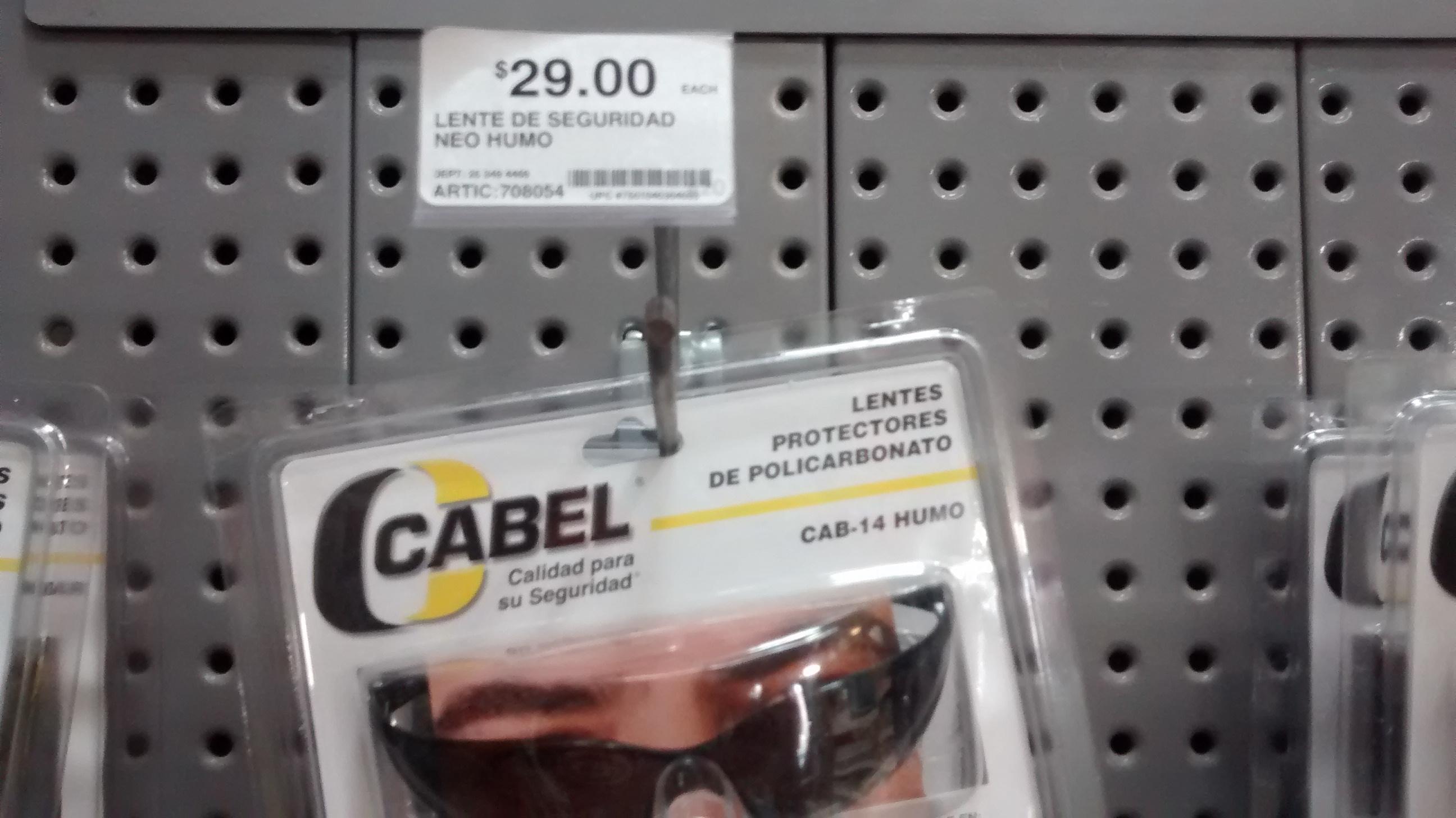 Home Depot Tres Ríos Culiacán: Lentes protectores de policarbonato Cabel