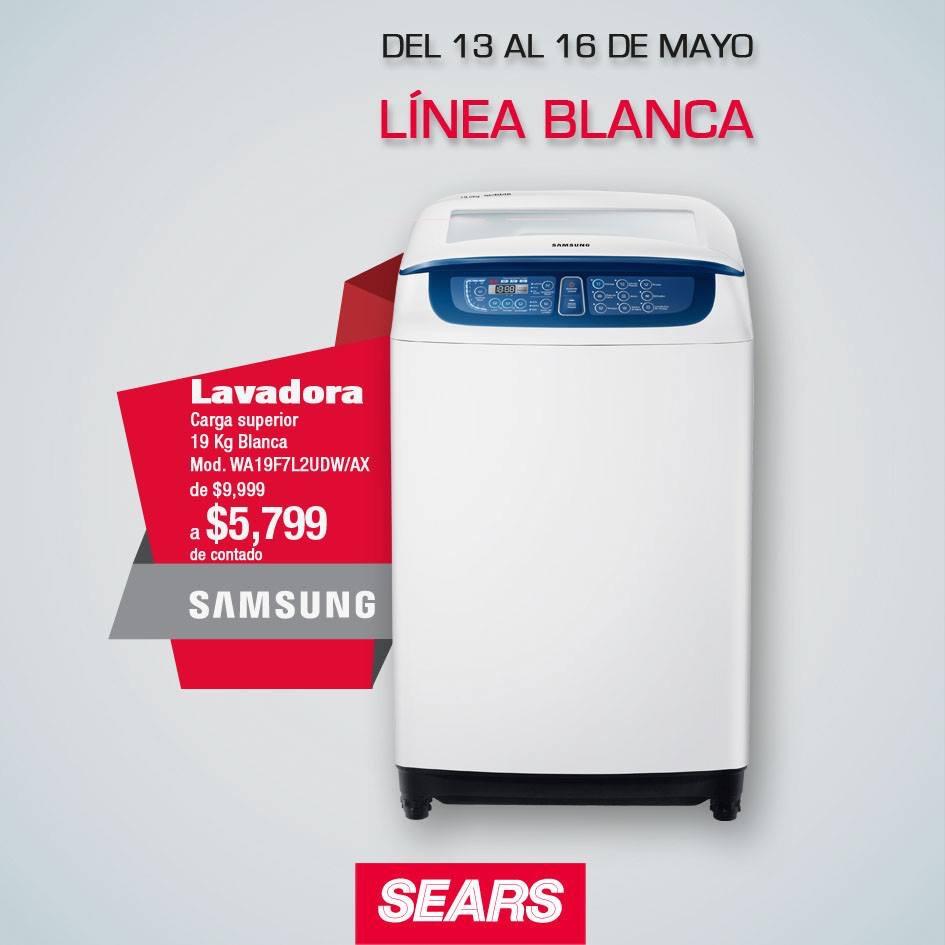 Sears en línea: Lavadora Samsung 19k