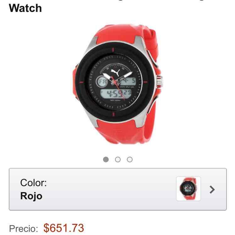 Amazon: Reloj PUMA Análogo y digital (sin cobro de envío y tarifa de importación)