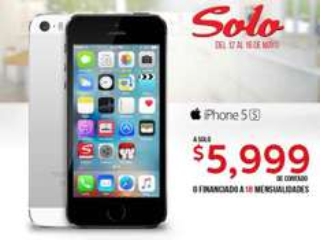 Sanborns: iPhone 5s a $5999