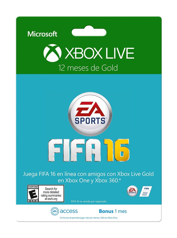 Amazon: Membresía Xbox Live 12 Meses Gold + 30 días de EA Access a $749