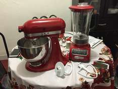 Kitchen Aid: Batidora de pie Artisan + Licuadora Diamond a $6,999