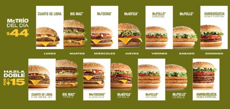 McDonald's: McTrío del día a $44