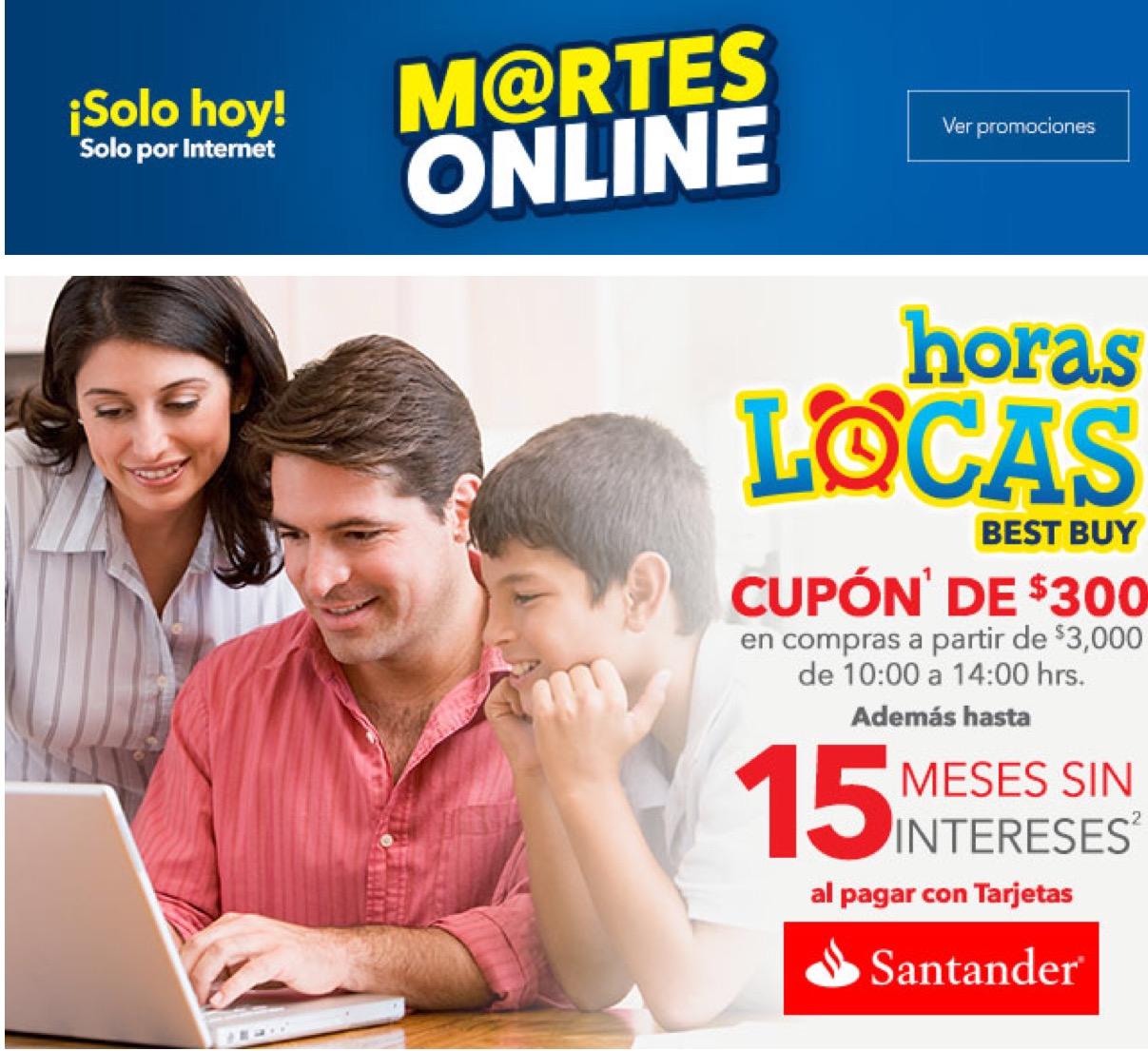 Best Buy en línea: Celebra el Día del Internet con Horas Locas de Santander