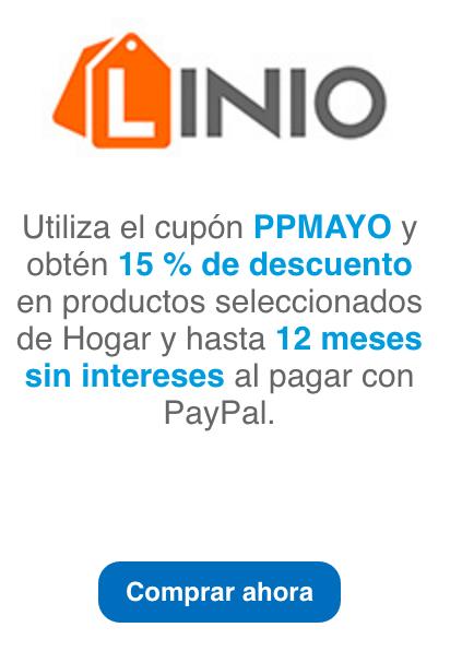 Linio: Cupón 15% con Paypal en productos seleccionados hogar