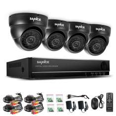 eBay: Set de 4 cámaras de video vigilancia con DVR