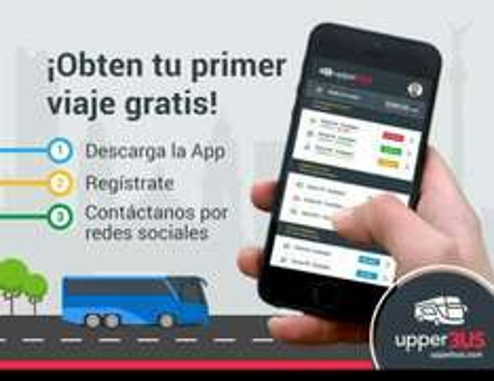 UpperBus: Primer viaje gratis, nueva modalidad de transporte