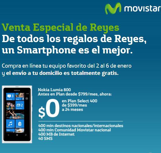 Nokia Lumia 800 gratis en planes desde $319 mensuales