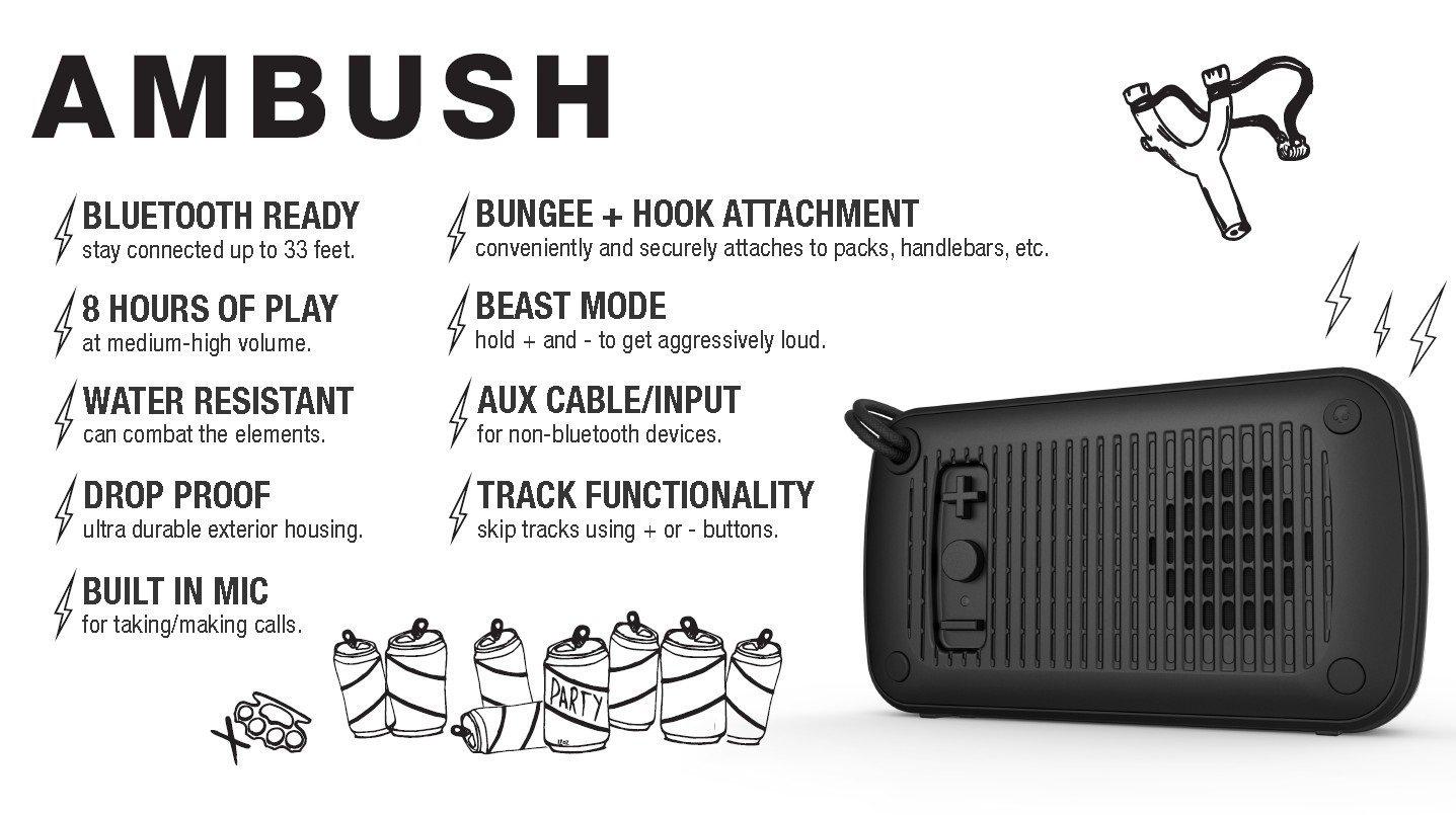 AMAZON: Bocina Skullcandy portátil Bluetooth