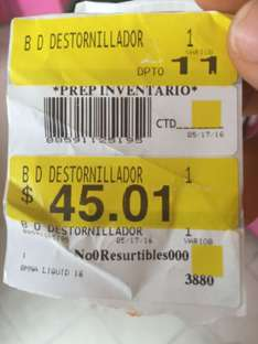 Walmart Universidad Tabasco: Destornillador Black & Decker a $45.01