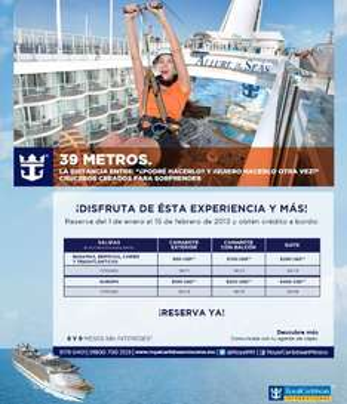 Cruceros: bebidas alcohólicas incluidas, propinas gratis y/o hasta 300 dólares de crédito