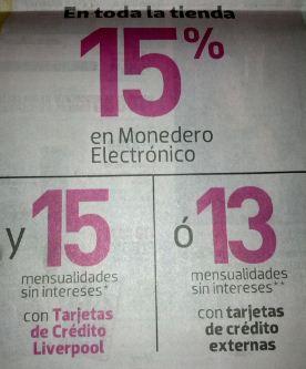 Jueves Rosa Liverpool: 15% en monedero y 13 MSI en toda la tienda