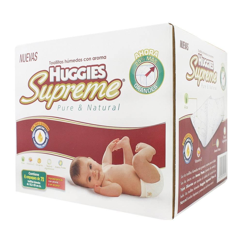 Sam's Club en línea: caja con 4 paquetes de toallitas humedas huggies 72pz cada uno en $88.99