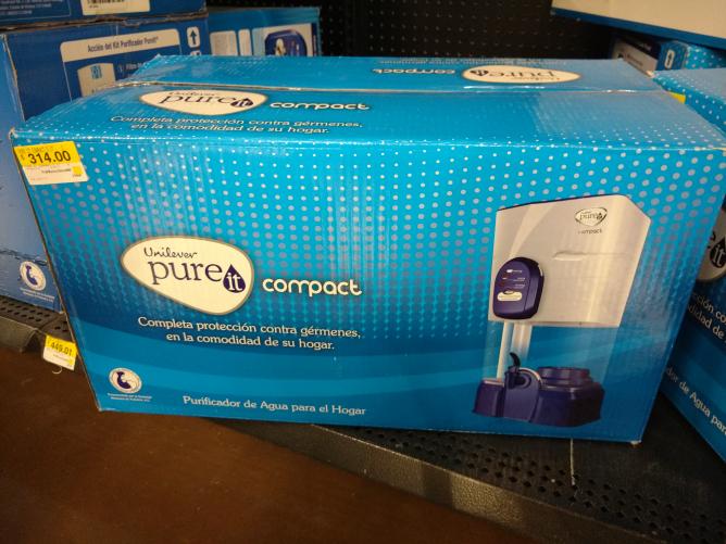 Walmart Linconl: Unilever Pureit compact a $314 y bebida clericot 3 x $119
