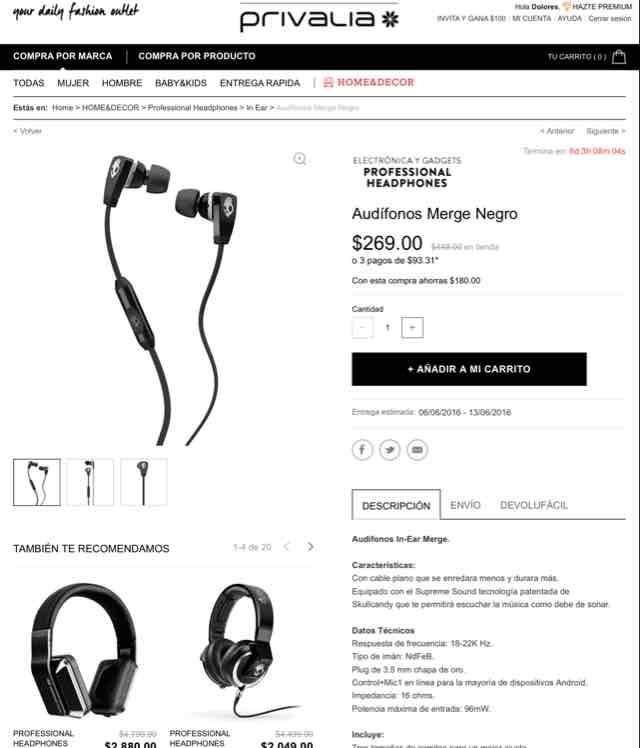 Privalia: audífonos Skullcandy y más en rebaja