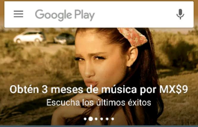 Google Play Music: 3 meses por 9 pesos (usuarios nuevos)