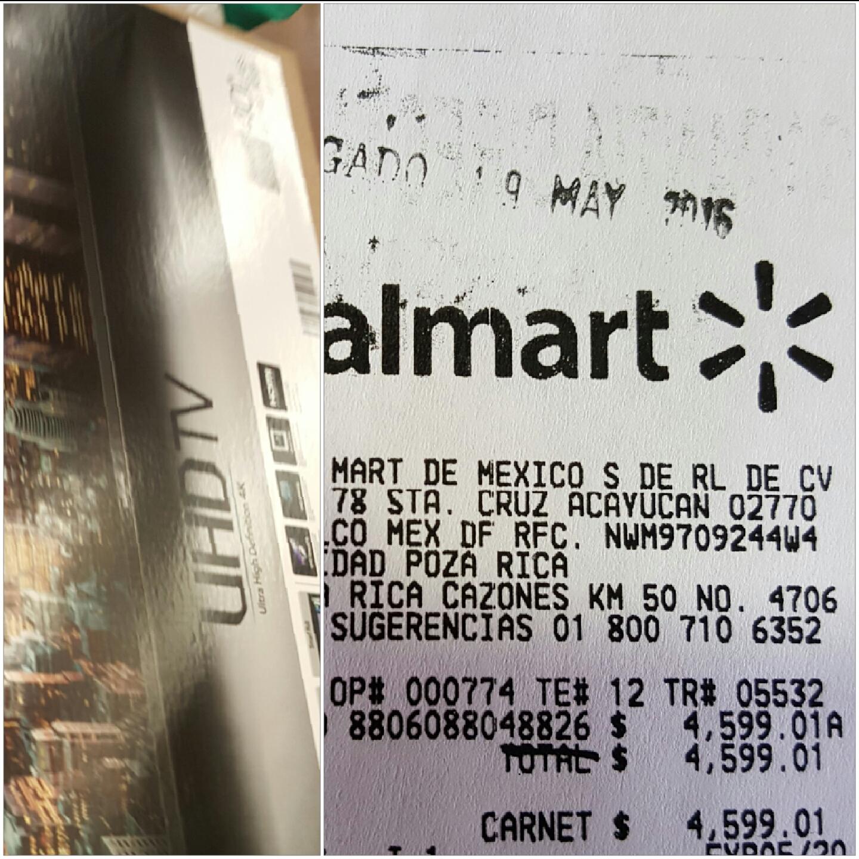 "Walmart Poza Rica: pantalla LED Samsung 40"" UHD smart a $4,599.01"
