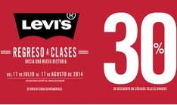 Levi's: venta de regreso a clases 2014 en boutiques y tiendas departamentales