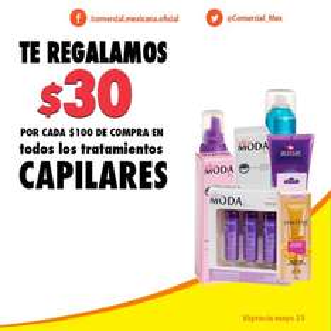 Comercial Mexicana: $30 por cada $100 en diferentes departamentos