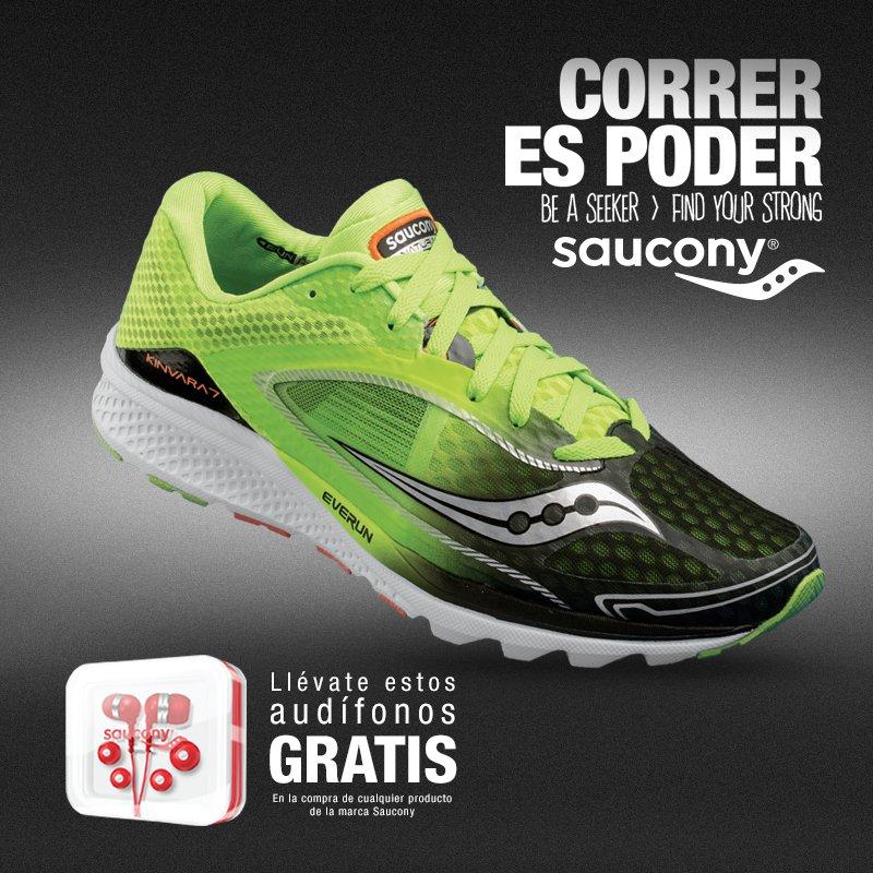 AtleticosMx, Innovasport, Liverpool, Martí, mistertennis, El Palacio de Hierro y Run Freaks: Audífonos gratis en la compra de producto Saucony