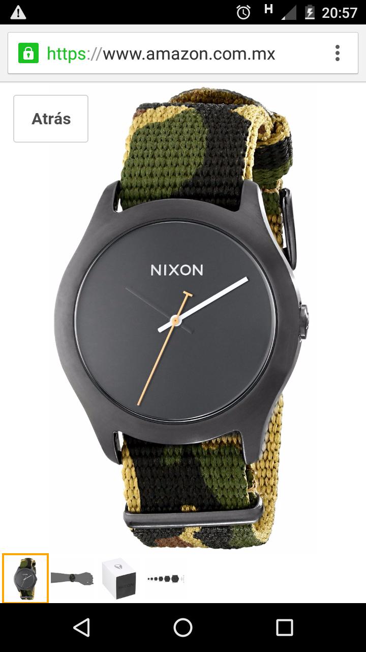 Amazon: Reloj para mujer marca Nixon a $318