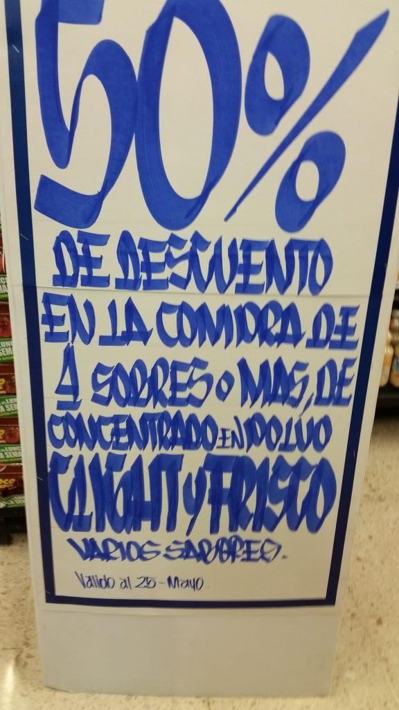 Chedraui Coatzacalcos Independencia: Clight y Frisco al 50% de descuento en la compra de 4 o más sobres
