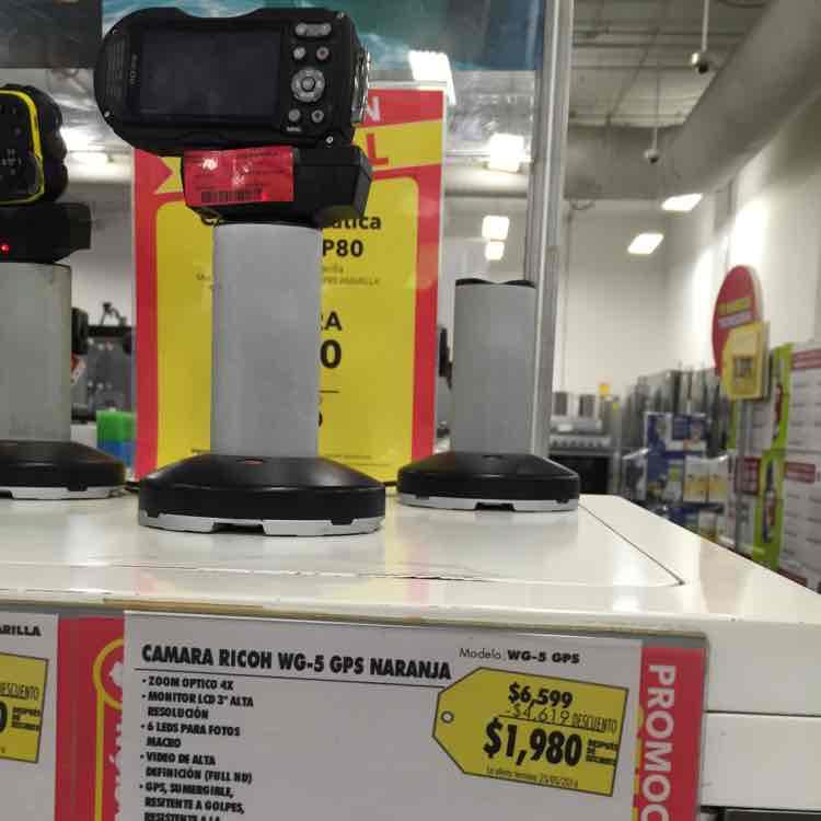 Best Buy: cámara ricoh WG-5 gps naranja $1,980