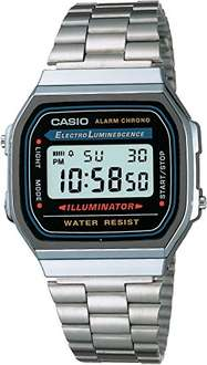 Amazon México: Reloj CASIO A168WA-1Q Retro Unisex