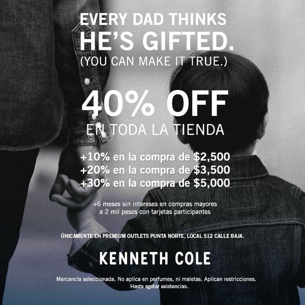Desde 40% y hasta 70% de descuento en Kenneth Cole + 6 MSI