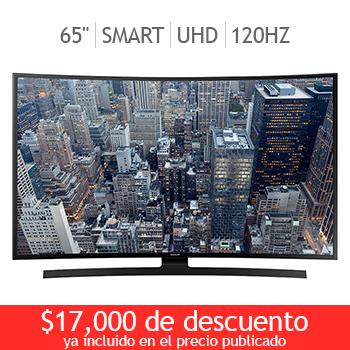 """Costco en línea: Samsung Smart Curva 65"""" UN65JU6700FXZX a $27,999"""