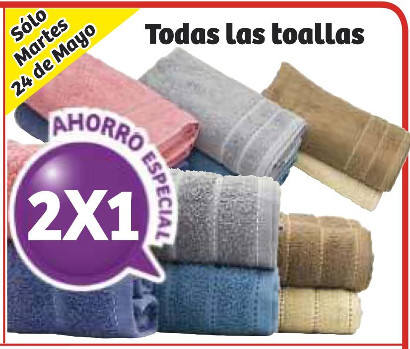 Soriana: 2x1 en todas las toallas