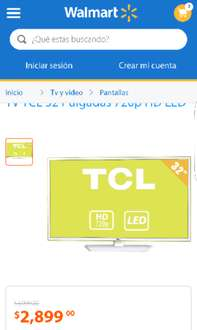 Walmart adelantos Hot Sale 2016: TV TCL 32 Pulgadas LED