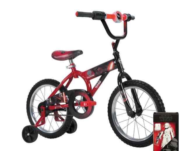 Walmart en línea: Bicicleta Huffy R16 Star wars con figura de regalo a $999
