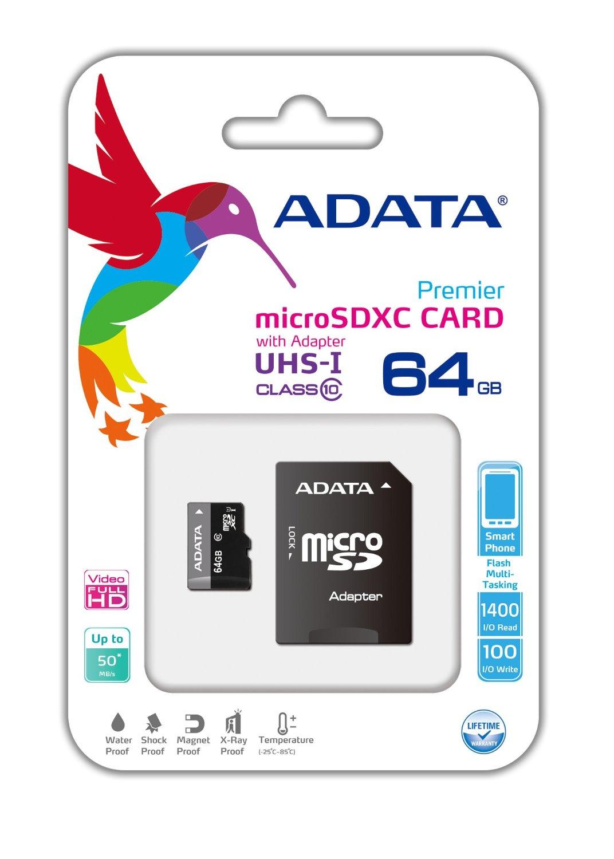 Amazon MX: MicroSD Adata 64GB a $163 + Envío (Vendido por un tercero)