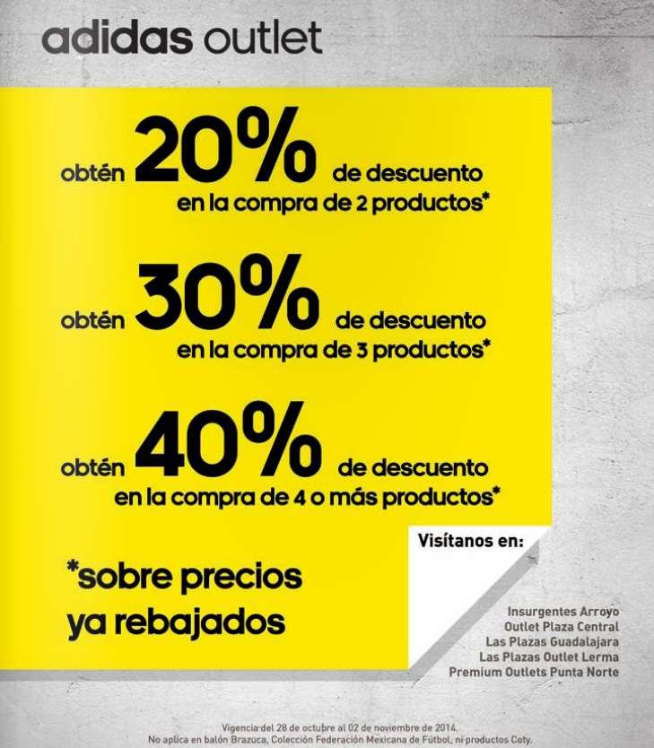 Adidas outlet: descuento escalonado de hasta 40%