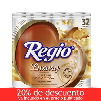 Costco: Regio Luxury Cream de Cocoa 32 rollos a $39 con cupón TCC200 (sólo si nunca lo has usado)