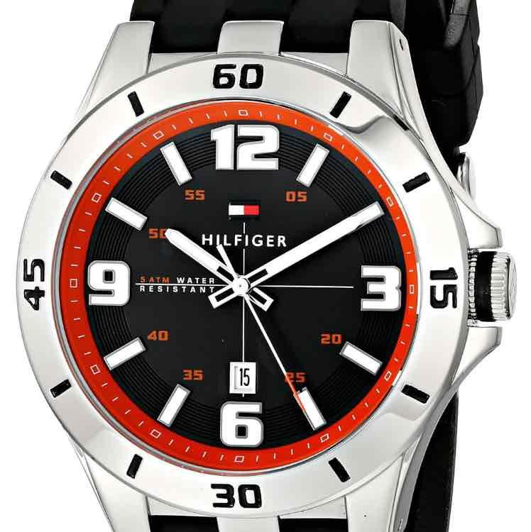 Amazon: Tommy Hilfiger 1791064 Reloj de hombre en acero inoxidable con correa de silicona negra