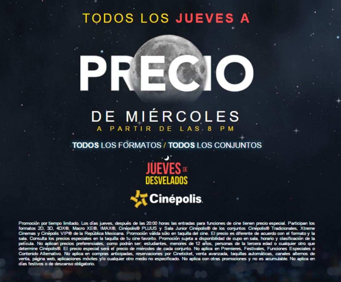 Cinepolis: precio especial los jueves después de las 8:00 pm