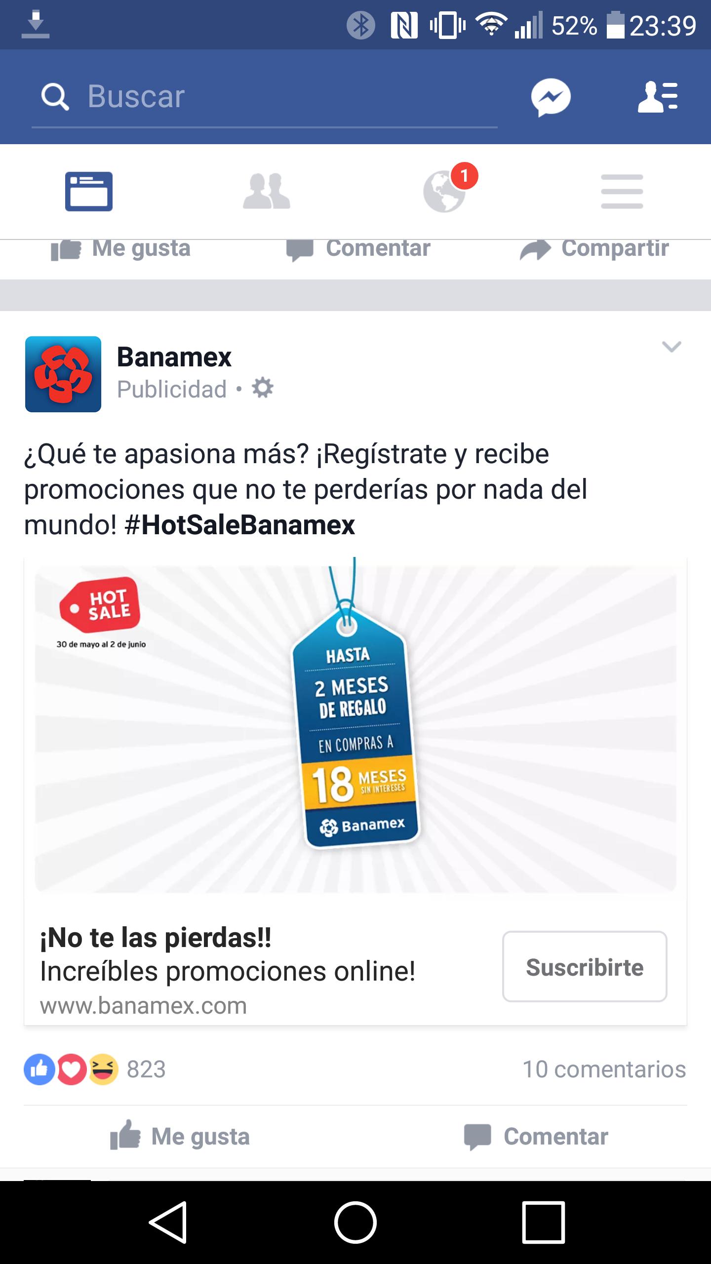 Hot Sale 2016 en Banamex: 18 meses sin intereses y hasta 3 de bonificacion