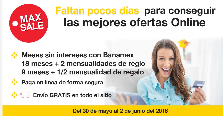 Ofertas de Hot Sale 2016 en Office Max: 18 MSI + 2 meses de bonificación con Banamex