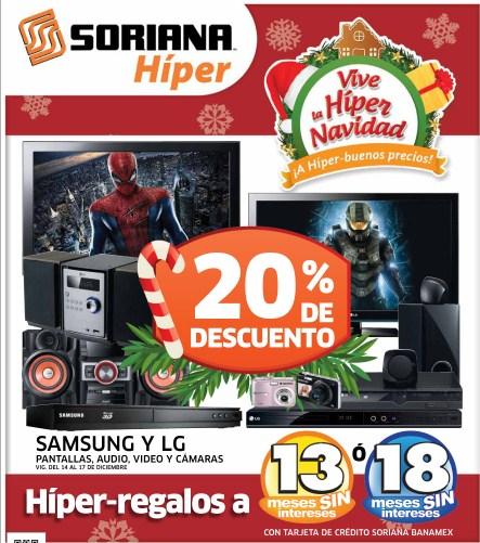 Folleto Soriana: 20% de descuento en Samsung y LG, 15% en videojuegos y accesorios Xbox y más