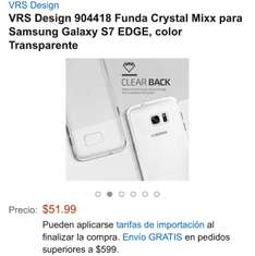 Amazon: Funda Crystal mixx para S7 edge a $52. Vendida por Amazon USA