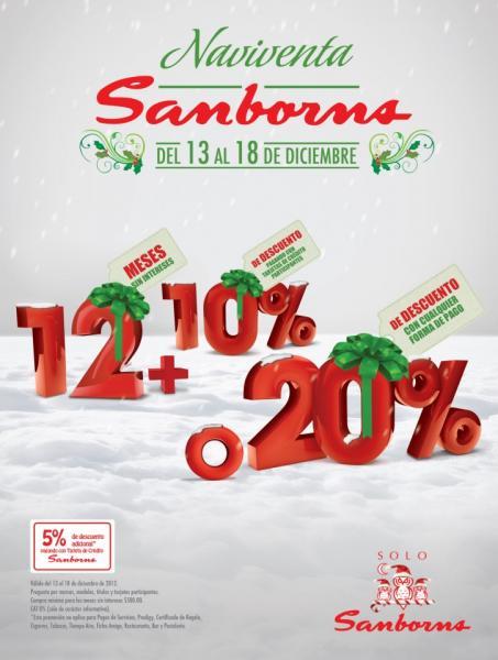 Naviventa Sanborns: 20% de descuento o 10% y 12 MSI en artículos participantes