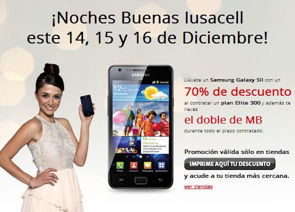 Iusacell: Samsung Galaxy SII a $319 en plan de $319 y doble de MB