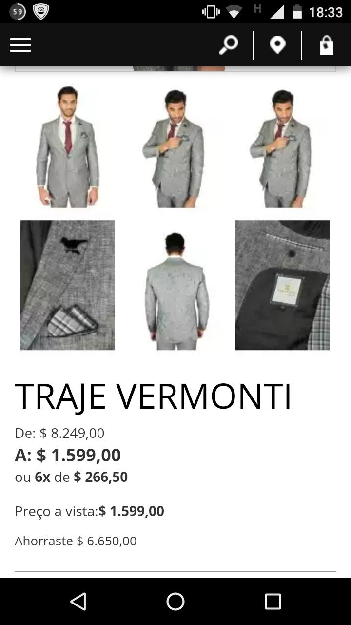 Aldo Conti en línea: traje Vermonti a $1,599