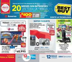 Best Buy: 30% en todas la cámaras, 40% en series de TV, 20% en pantallas LG y +